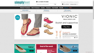 Simply Feet Website Screenshot