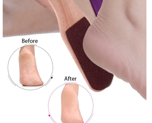 Wooden Foot File Before After