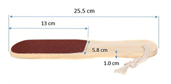 Wooden Foot File Dimensions
