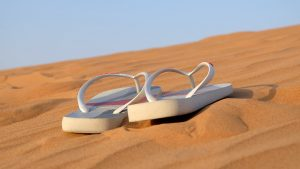 Wide Fit Sandals on the beach